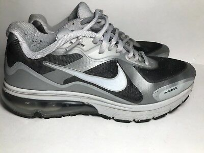 Nike Air Max Hyperfuse 454347 090 Size 8.5 M BlackSilver Running Mens Shoes | eBay