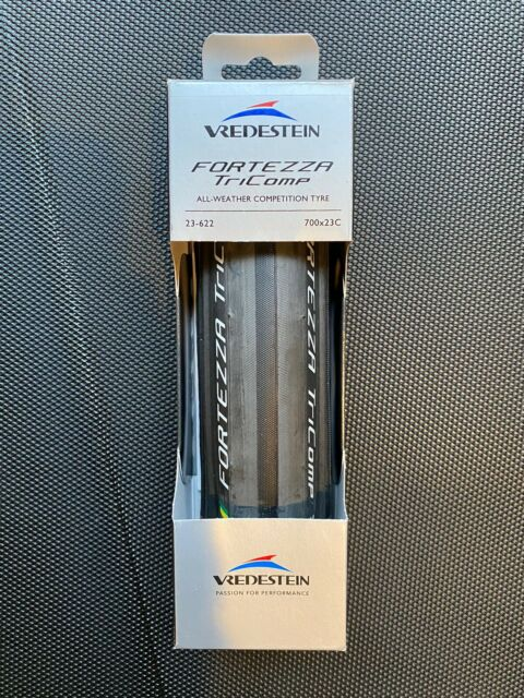 2 Pack Vredestein Fortezza Tricomp 700x25 Black//Green Folding Clincher Tire