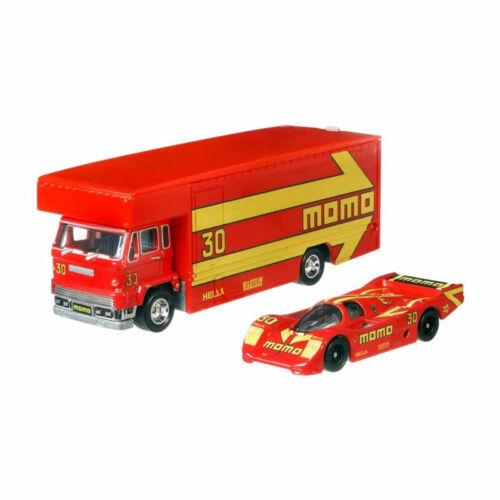 Team Transport 1:64 NEU!° Hot Wheels FLF56-60 Porsche 962 Fleet Flyer momo rot
