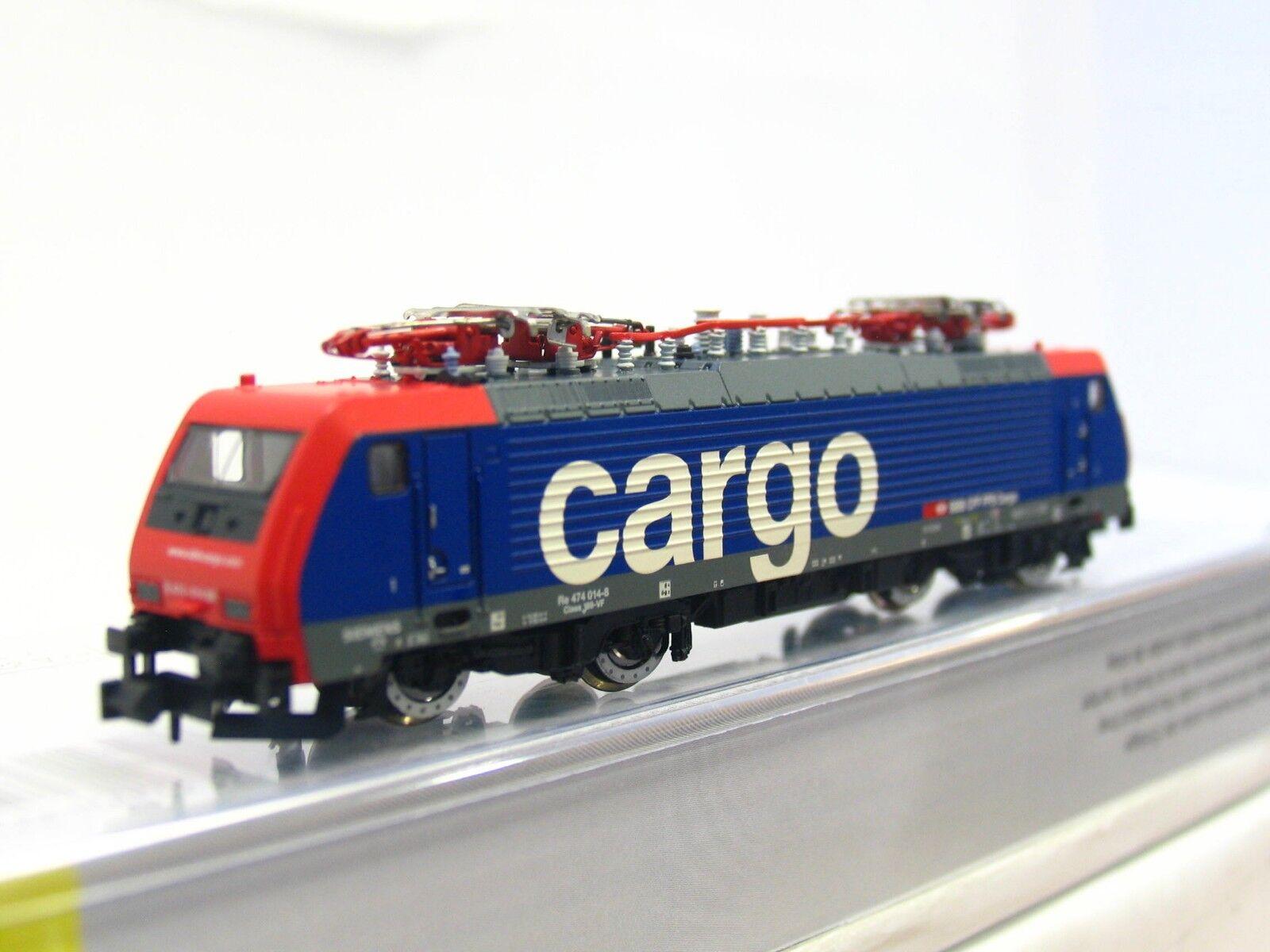 Minitrix N 12327 E-Locomotive Re 474 014-8 SBB CFF FFS Cargo DSS OVP (v6031)