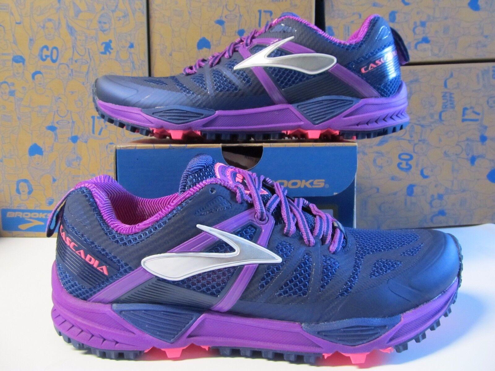 Brooks Cascadia 10  120 para senderismo y atletismo Púrpura Púrpura Púrpura de medianoche Cactus Flower Azul  autorización oficial