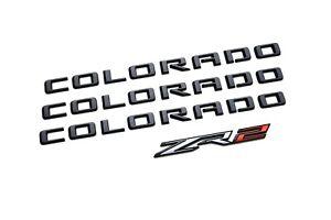 21-22 Chevrolet Colorado ZR2 Black Emblems- Genuine GM Brand New- # 84858702