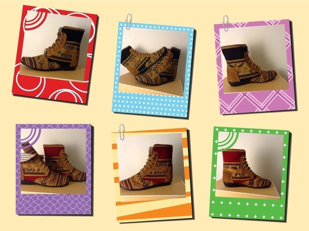 Handmade Peruvian Inca Textile and Leather Hi Hi Hi Top shoes 0019ec