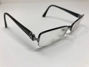 add60c2283 Vogue Eyeglasses VO3875-B 352 Black Silver Half Rim Frame 52  17 135 ...