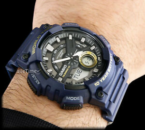 Casio-AEQ-110W-2AVEF-BLUE-Resin-Strap-Men-039-s-Watch-World-Time-Alarm-Chrono-DEAL