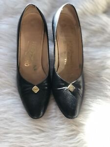 Salvatore Ferragamo Pumps Navy Pumps Ferragamo Leder Made In  Größe 9 AAAA 6b81e7