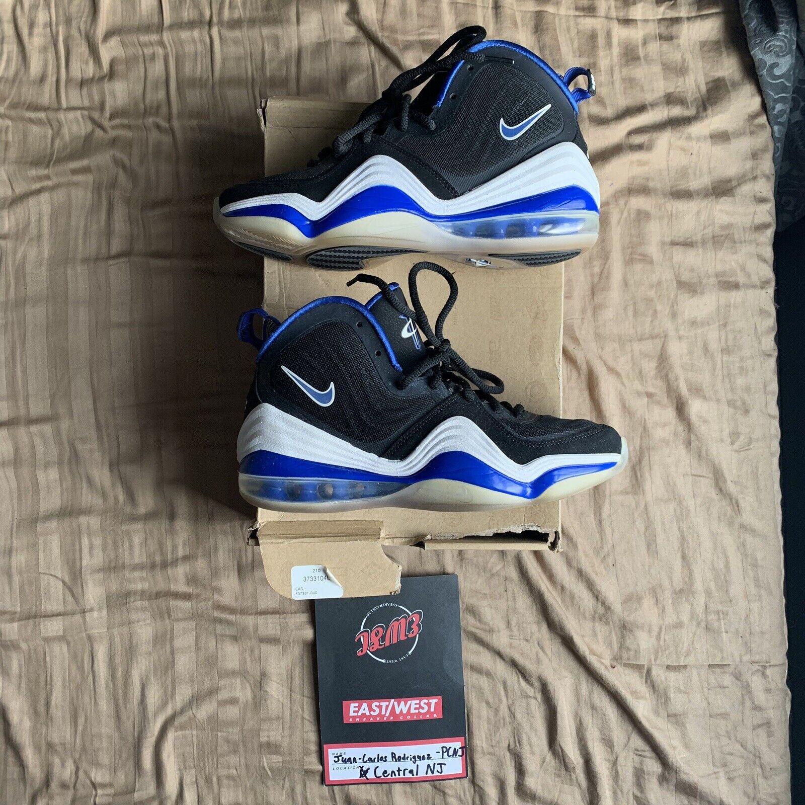Nike Air Penny V 5 Game Royal White Orlando 537331-040 Sz 7 foamposite one