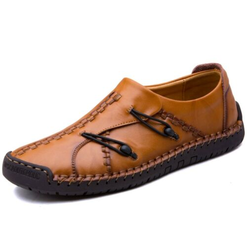 US Men/'s Casual Driving Boat Shoes Leather Shoes Moccasin Slip On Loafers Buckle
