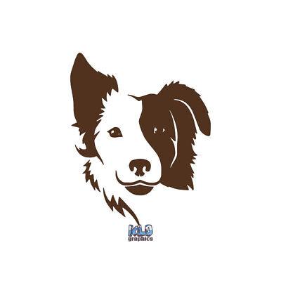 BORDER COLLIE I LOVE MY Vinyl Sticker Decal AKC Registered Breed DOG GROOMER