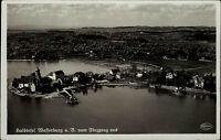 Wasserburg am Bodensee Schwaben AK ~1930/40 Luftbild Fliegeraufnahme ungelaufen