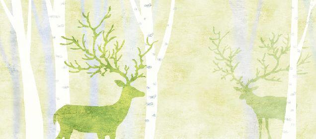 3D Fresh woods elk 185 WallPaper Murals Wall Print Decal Wall Deco AJ WALLPAPER