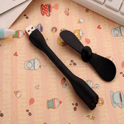 Portable Micro//Mini LED USB Cooling Clock Fan Flashing Real Time Display