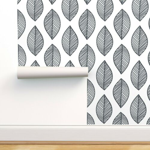 Peel-and-Stick Removable Wallpaper Botanical Leaves Nature Minimalist Lines