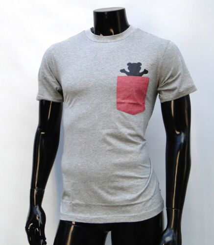 New Grizzly Griptape Skateboard Co Chambray Pocket Mens Sport T Shirt