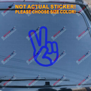 Pick size color Shocker Hand Decal Sticker Car Vinyl die cut no bkgrd