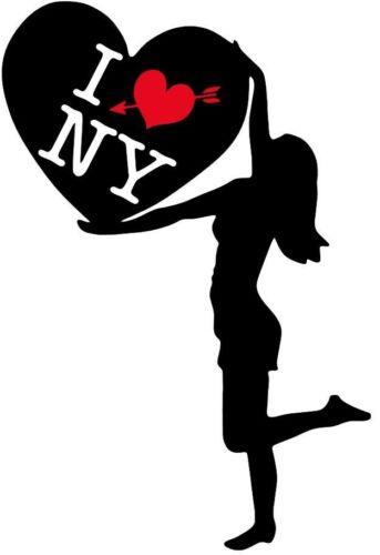 I Love New York NY Chambre Décor Mural Art Autocollant Vinyle Décalcomanie Transfert