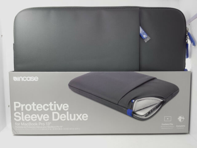 """C14 Incase Protective Sleeve Deluxe Case w/Pocket for MacBook Pro 13"""" Gray/Blue"""