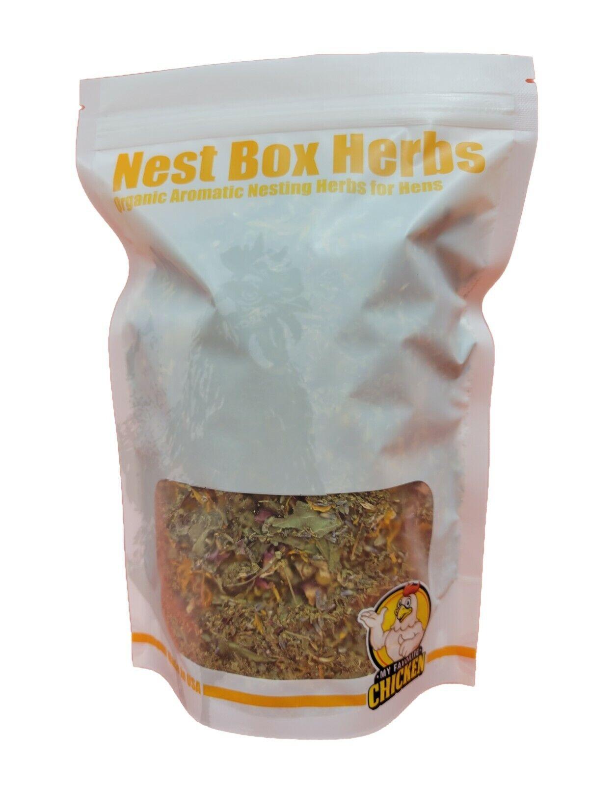 Chicken Nest Box Herbs for Hens, Organic, Non-GMO 6 oz