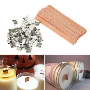 10-20Pcs-Wooden-Wick-Candle-Core-amp-Sustainer-100-PCS-Cotton-Candle-Core