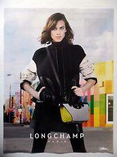 PUBLICITE-ADVERTISING :  LONGCHAMP (01)  2015 Sac Gris Jaune,Mode