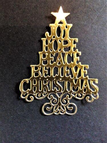 Tarjeta Toppers Die Cut 8 X Oro//Plata Árbol De Navidad Navidad C1 con palabras
