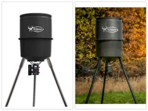 225 lb 30 Gallon Hunting Deer Game Feeder with Digital Timer Heavy Duty Outdoor