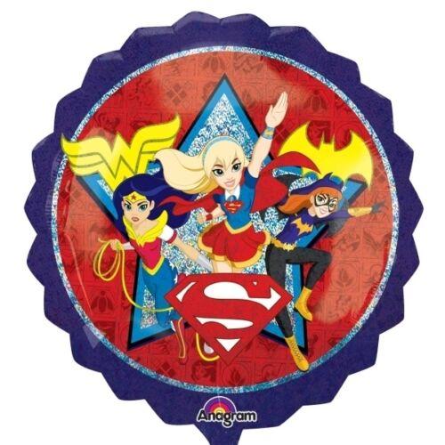 DC super hero Niñas Cumpleaños FIESTA DE GAMA Vajilla Globos /& Decoraciones Amscan