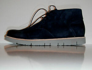 $260 New Tsubo Men Halian Navy Suede Comfortable Desert Lace Up Boot sz 11