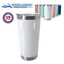 10pcs 20oz White Sublimation Blank Stainless Steel Beer Tumbler Beer Coffee Mugs