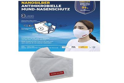 Atemschutzmaske Mundschutz waschbar FFP2 antimikrobiell ...