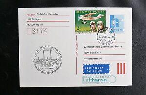 INTERNATIONALE-BRIEFMARKEN-MESSE-HESSEN-HUNGARICA-LUFTHANSA-FLUG-LH-359-1978