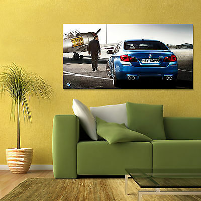 BMW M5 F10 5 SERIES EURO SPORTS CAR REAR LARGE AUTOMOTIVE POSTER 24x48in