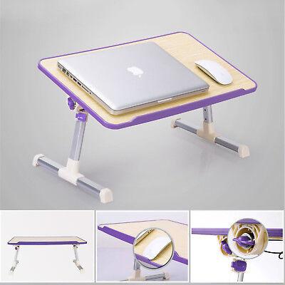 Adjustable Laptop Bed Tray Portable Standing Desk Foldable Sofa Table Purple USA