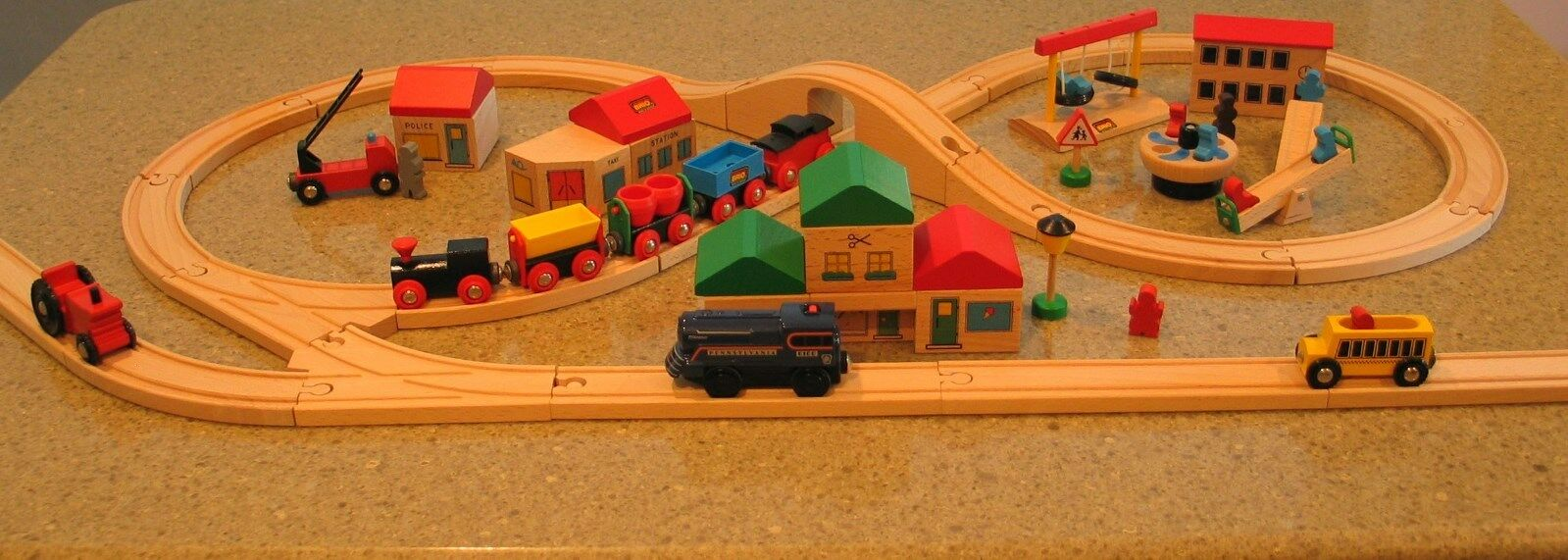 Brio Wooden Train Set With Extra Track And Accessories