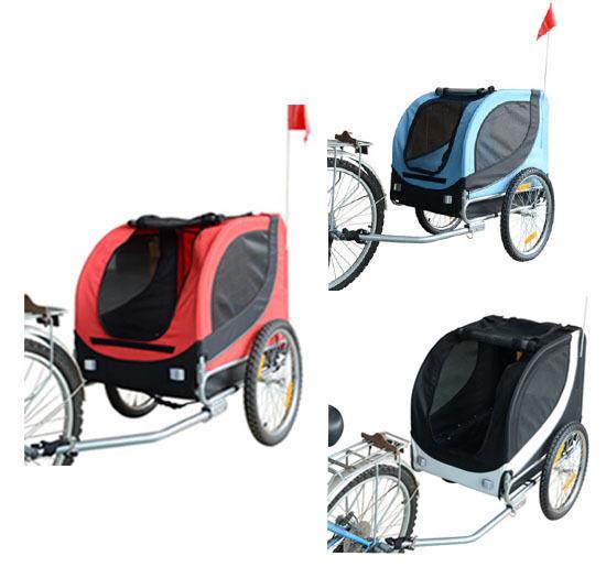 PawHut Fahrradanhänger Hundeanhänger Hunde Fahrrad Tier Anhänger 3 Farben