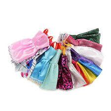 10Pcs/Lot Mixed Colors Toy Clothes Tutu Princess Dresses for Barbie Doll Showy