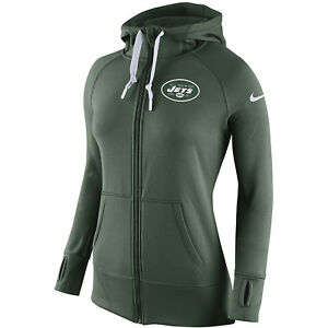 16dd97bbbb61 Nike Womens New York Jets Warpspeed All Time Therma-Fit Zip Fleece ...