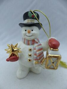 Lenox-Annual-Snowman-ornament-2006-Snowman-with-Lantern-EUC