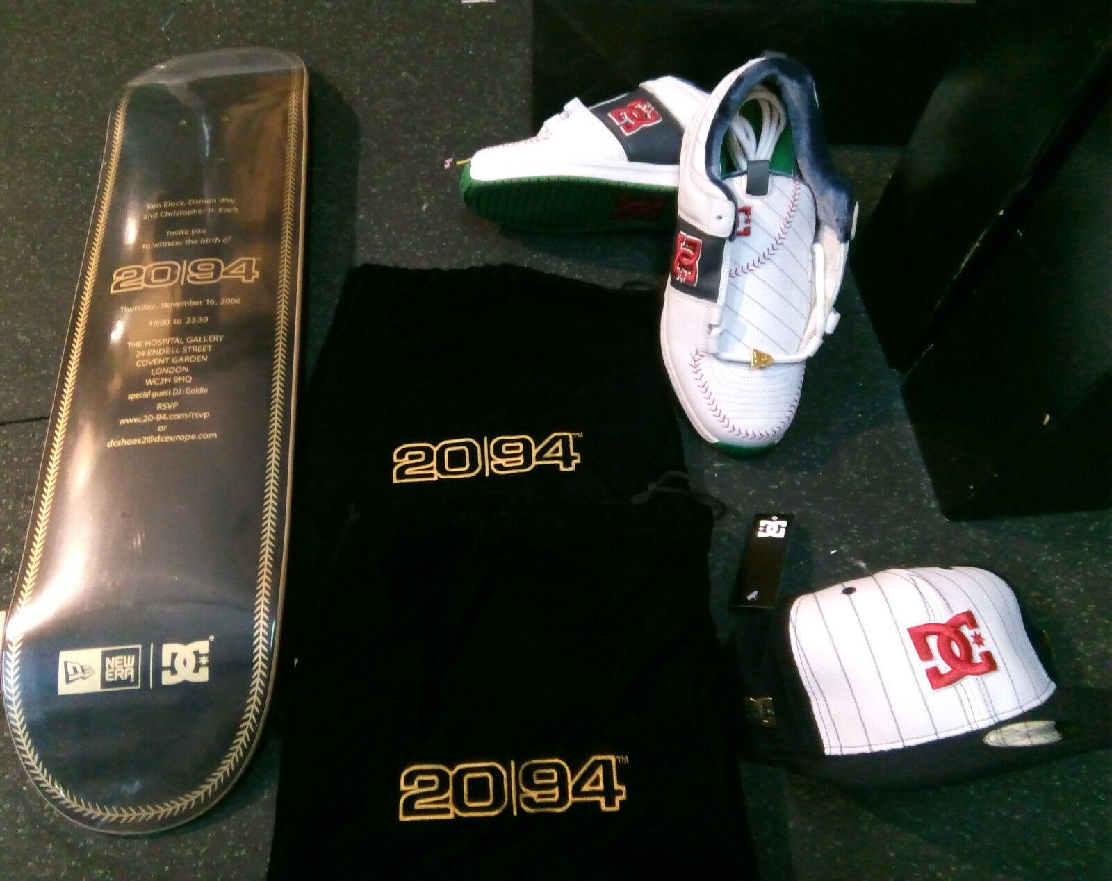 DC SHOES Lynx 2 Chaussures De Skate 2006 USA 11 New Era Cap 2094 & SKATEDECK RARE