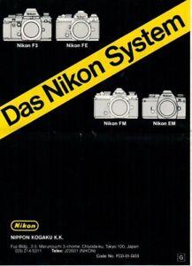 NIKON-Das-Nikon-System-Prospekt-Faltblatt-fuer-Zubehoer-Objektive-B9557