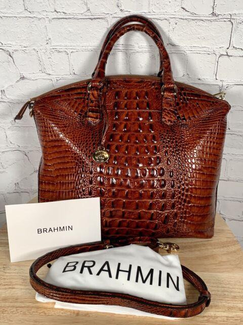 Brahmin Pecan Brown Large Melbourne Leather Duxbury Satchel Bag Classic $295