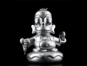Kidrobot X Simpsons Homer Argent Bouddha 7   Kidrobot X Simpsons Homer Silver Buddha 7