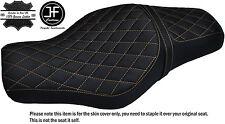 Crema Diamante St Custom Para Harley Sportster 883 1200 Vinilo de dos Cubierta de asiento