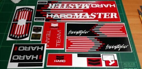 Haro master 88 Bmx decal Red