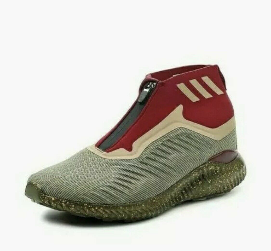 Adidas Alphabounce 5.8 Zip shoes Men's Trace Olive BY4237 Size 11.5