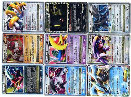 Lot de 9 Cartes POKEMON ENGLISH NEUVES HOLO ULTRA RARE LPUR9 01 LV.X,EX etc...