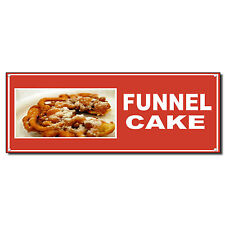 Funnel Cake Food And Drink Vinyl Banner Sign With Grommets 2 Ft X 4 Ft