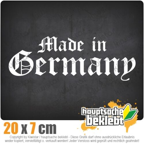 KIWISTAR Made in Germany altdeutsch csf0927 12 x 10 cm Aufkleber