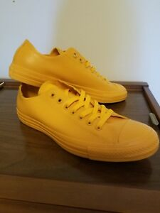 0c5b9419ad7d Converse rubber Chuck Taylor All Star Women 11 men 9 Low Top Yellow ...