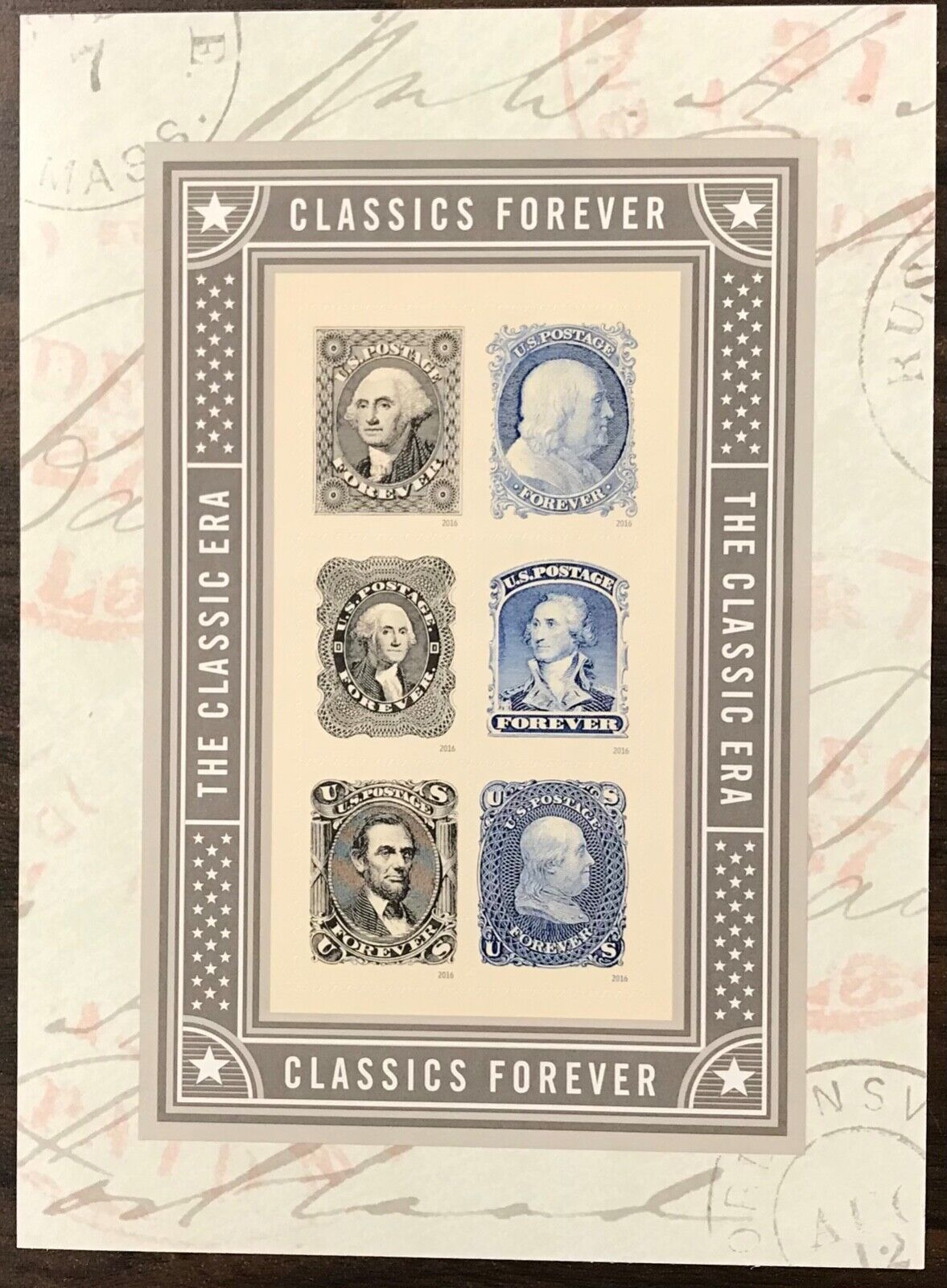 5079     Classic U.S.Stamps    MNH Forever S/S sheet of 6    FV $3.30    In 2016